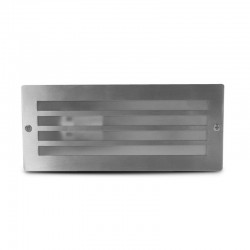 Spot balise E27 rectangulaire encastrable grille Inox 304