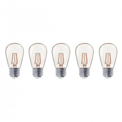 Lot de 5 ampoules LED E27 PARTY BULB Filament