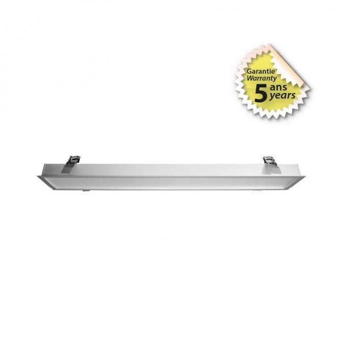 Réglette LED prismatique encastrable 24W 600 mm
