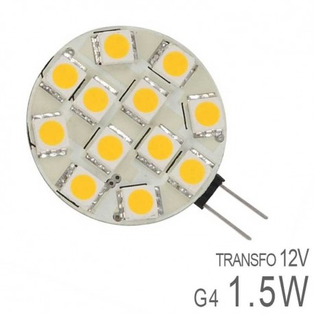 Ampoule LED G4 Plate 1,5W SMD Dimmable