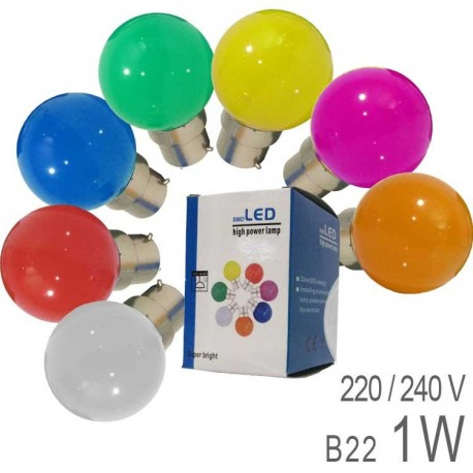 Ampoule LED B22 1W G45 Incassable