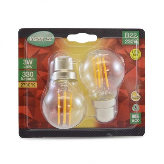Ampoule LED B22 2W COB G45 Bulb Filament