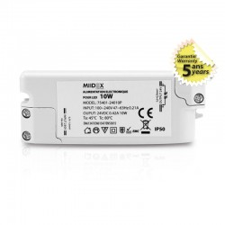 Transformateur LED 10W 24 Volts DC IP50