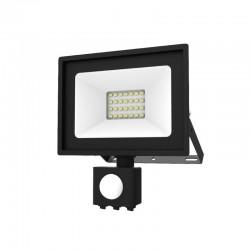 Projecteur LED SMD 20W Extérieur IP65 Gris + Détecteur