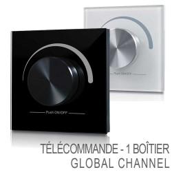 Télécommande sans-fil RF Murale Global Channel pour boitier variateur.