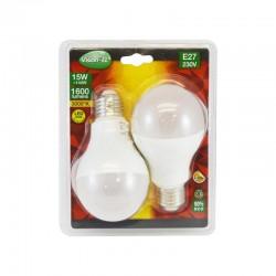 Lot de 2 Ampoules LED E27 15W Bulb
