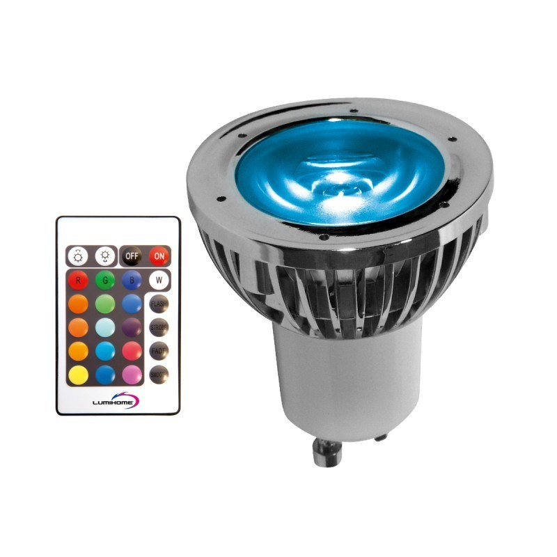 Ampoule led gu10 5w rgb boutique officielle lumihome - Ampoule gu 5 3 ...