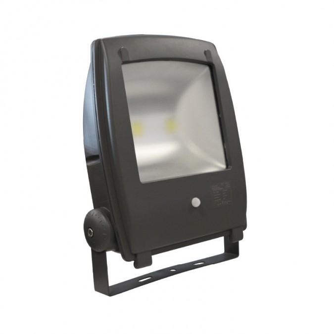 Projecteur LED COB Design 80W Extérieur IP65 Gris + Détecteur