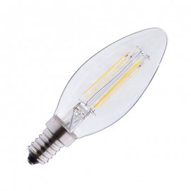 Ampoule LED E14 4W COB Filament Flamme (Dimmable en option)