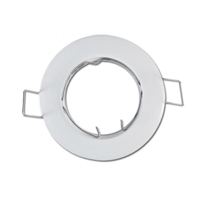 Support de spot Rond Blanc Fixe Acier Ø77mm