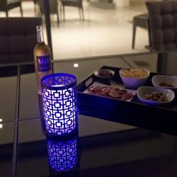 Colonne lumineuse LED Multicolore rechargeable Métal JOY