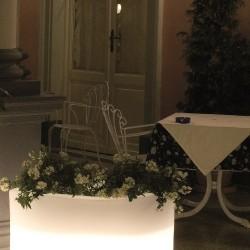 Jardinière lumineuse blanche OVY W60