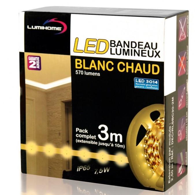 Coffret 2x50cm Ruban LED Blanc