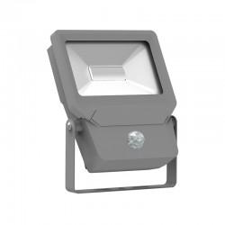 Projecteur LED SMD 50W Design Plat Extérieur IP65 + Détecteur