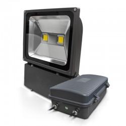 Projecteur LED COB 100W Extérieur Plat IP65 + Batterie de secours 3H