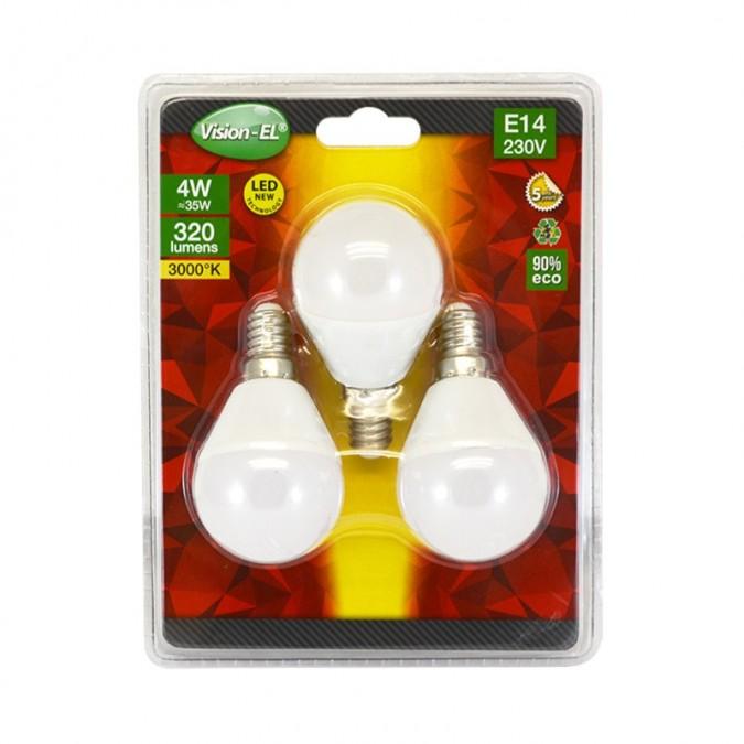 Lot de 3 Ampoules LED E14 4W G45