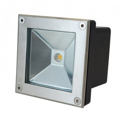 Spot 230V encastrable extérieur LED COB 5W Carré