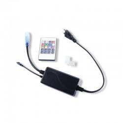 Câble Alimentation + Embout fin + Connecteur Pin Mâle/Mâle pour Ruban Néon Flex RGB