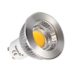 Ampoule LED GU10 5W COB Aluminium 80° Blanc chaud