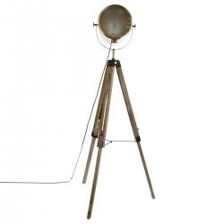 Lampadaire EBOR en métal & bois H150