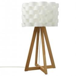 Lampe blanc MOKI en Bambou H150