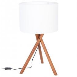 Lampe trépied NATT en bois H66