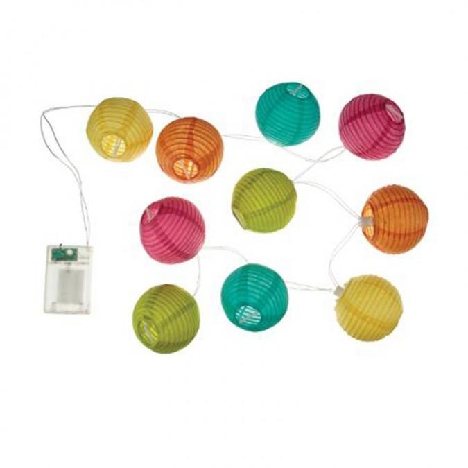 Guirlande LED 10 Boules Multicolore