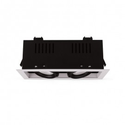 Spot LED cardan orientable 2x10W