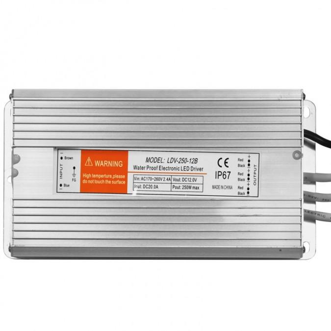 Transformateur LED 250W 12 Volts DC IP67