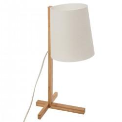 Lampe en bambou & abat-jour plastique H41