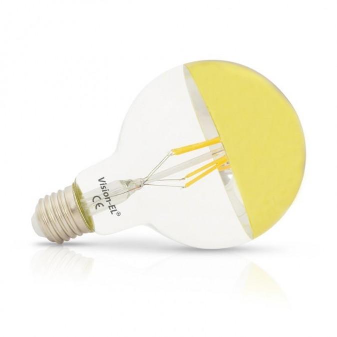 Ampoule LED E27 Globe 6W G95 Calotte dorée