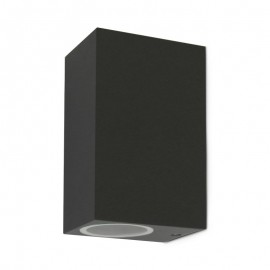Applique murale carrée LED fixe 2 x GU10
