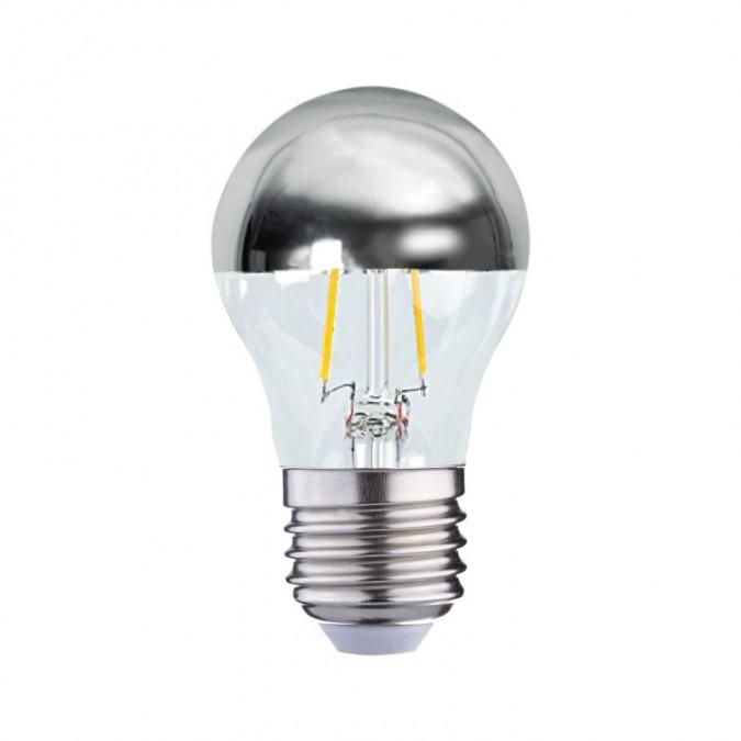 Ampoule LED E27 filament 2W G45 Calotte argentée