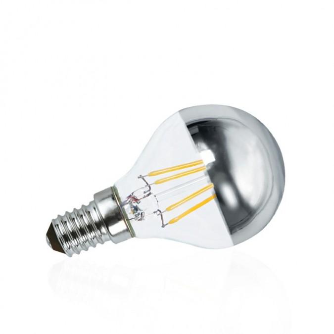 Ampoule LED E14 filament 4W P45 Calotte argentée
