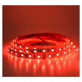 Ruban LED 14.4 Watts /m - Rouge - Rouleau 5M 12V