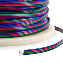 Câble 4 fils RGB 22AWG (au mètre)