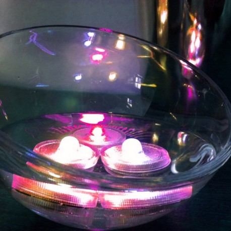 Lot de 10 Lampions LED submersibles Rose