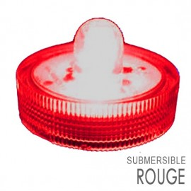 Lot de 10 Lampions LED submersibles rouge