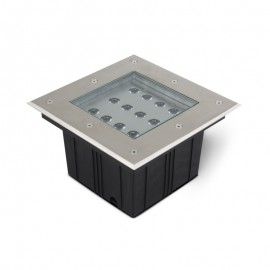 Spot 230V encastrable sol carré LED COB 12W - IP67