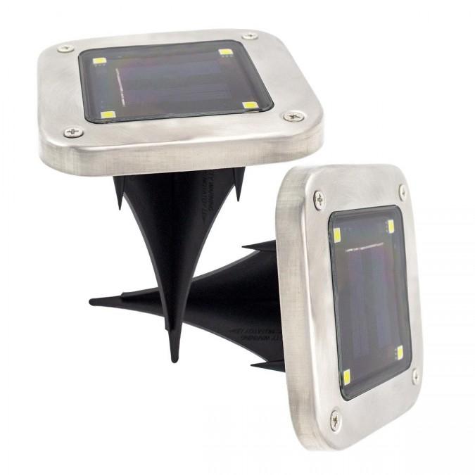 Lot de 2 Spots lumineux LED solaires DECKY SQUARE