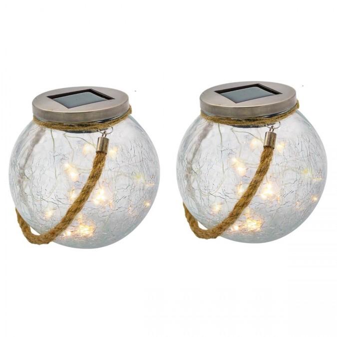 Lanterne ronde lumineuse LED CRACK BALL