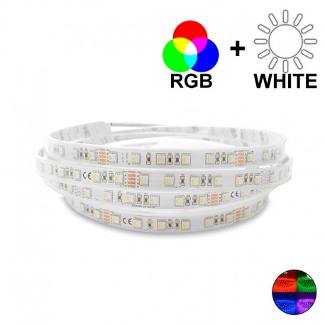 Ruban LED 14,5 Watts/m - RGBW MonoLED - Rouleau 5 mètres 24V