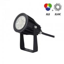 Spot piquet extérieur LED RGBW 6W IP65