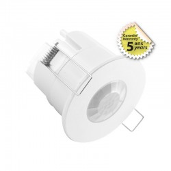 Détecteur de mouvement Rond IR LED 360° - Encastrable