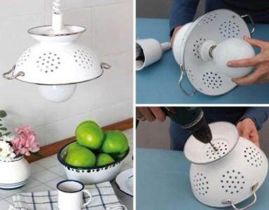 10 idées de luminaires version upcycling pour votre cuisine